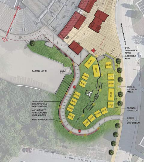 This area is being converted into a tiered hillside that will allow iniduals and groups to hold fully catered pre-game and post-game tailgate parties ... & Mizzou Unveils Trumanu0027s Terrace At Memorial Stadium/Faurot Field ...