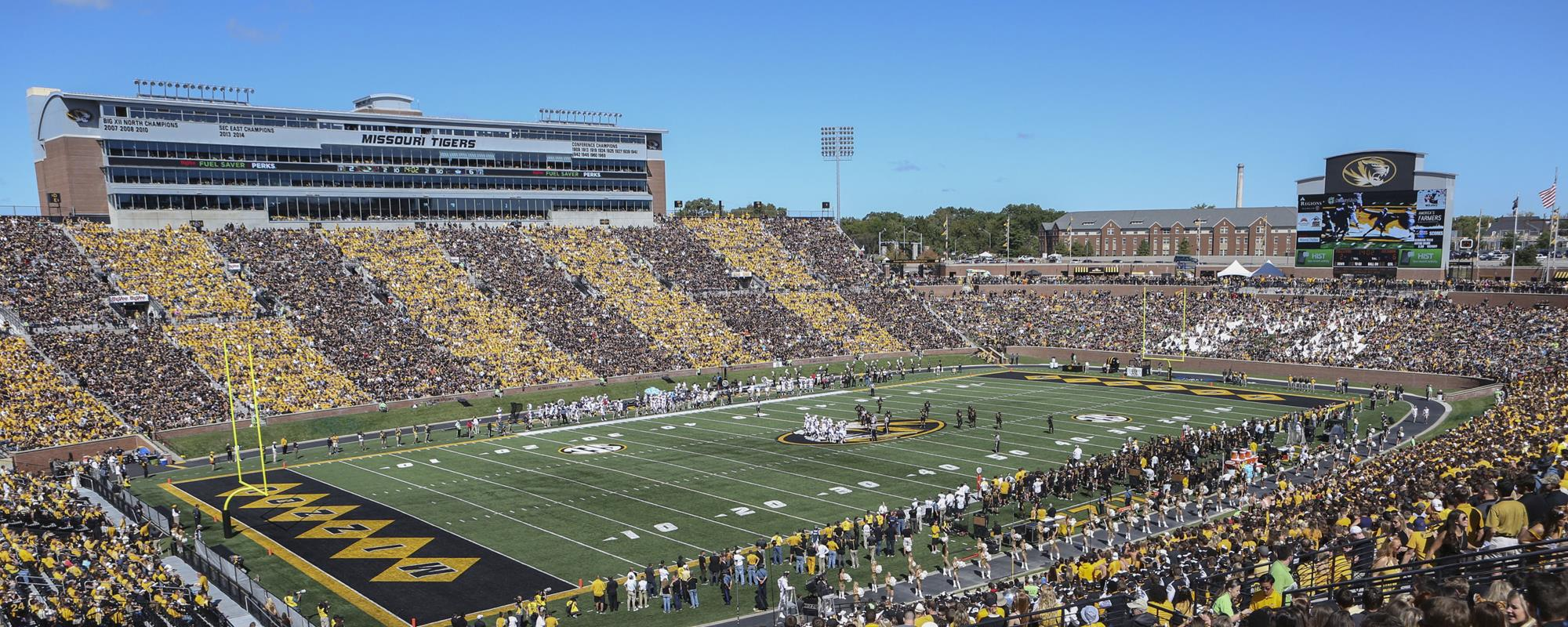 Memorial Stadium Faurot Field Tiger Stripe 2015 & MizzouFootball Spring Game Slated for Saturday Evening ...