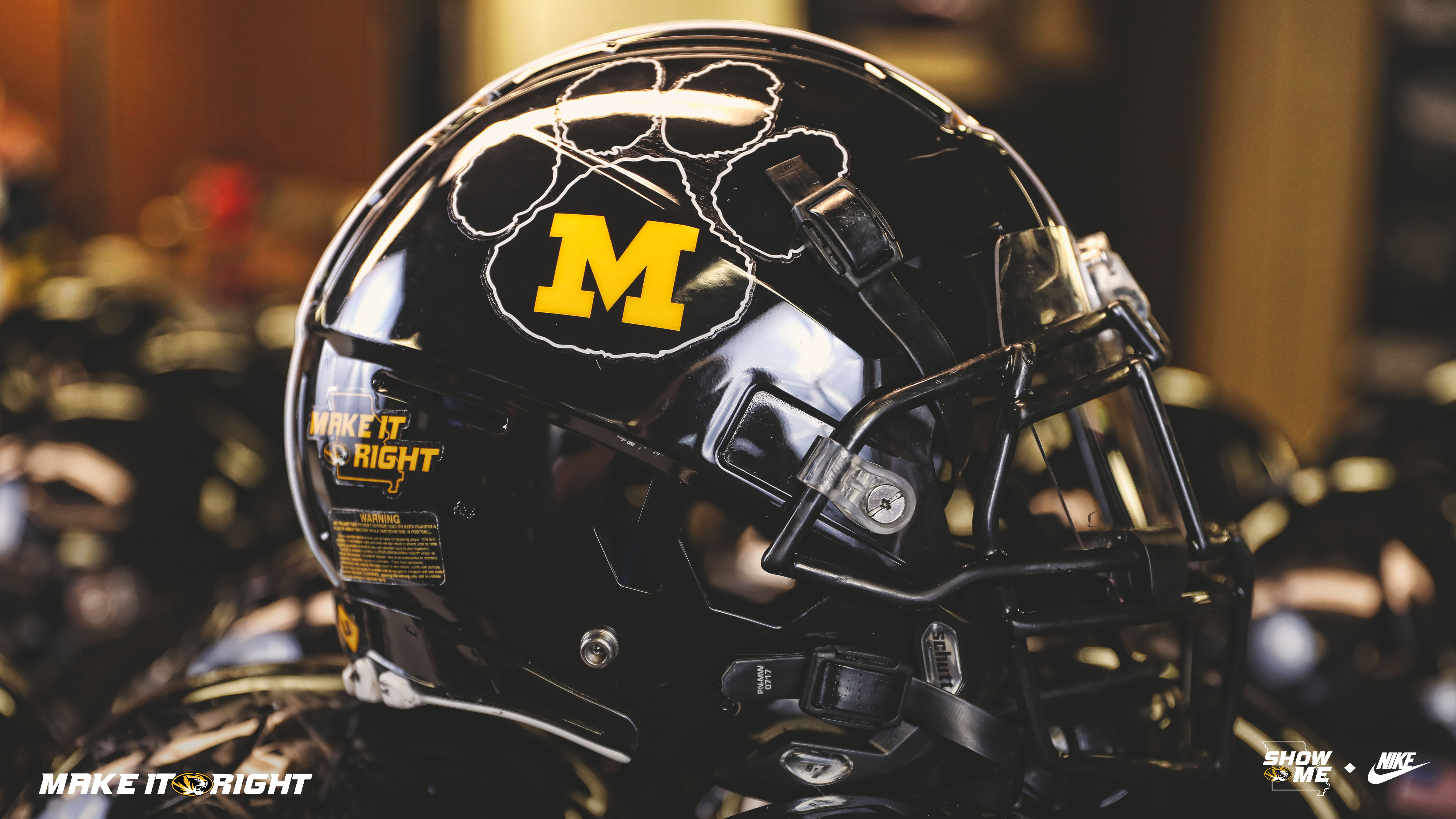 new product f67a0 3da29 First Look | Mizzou Football Brings Back Tiger Paw Logo for ...