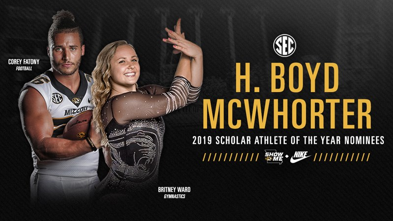 Fatony, Ward Nominees for McWhorter Scholar-Athlete Award - University of Missouri Athletics