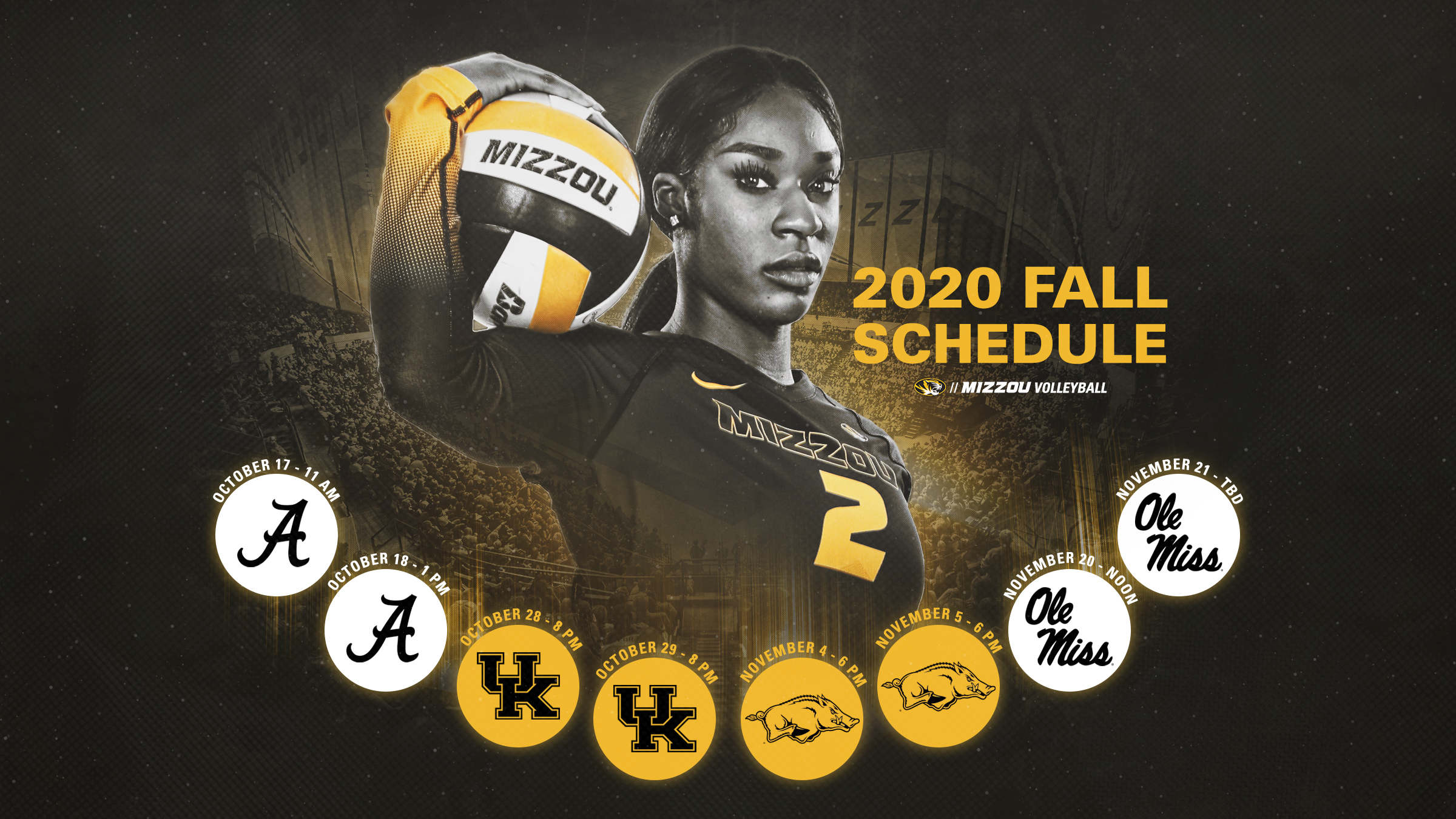 Mizzou Volleyball Announces 2020 Fall Schedule   University of